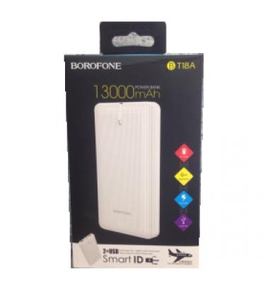 Портативный аккумулятор BOROFONE BT18A (13000 mAh) белый (95378)