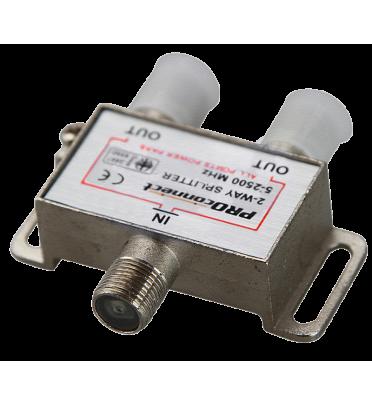 Делитель спутниковый на 2 2-WAY Splitter Proconnect 2-2500 MHz