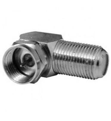 F штекер - F гнездо, угловой (медь-никель) APP-312