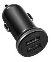 Адаптер питания автомобильный BOROFONE BZ5, 2 USB порта черный (82941)