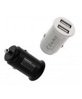 Адаптер питания автомобильный Remax RCC219, 2 USB порта белый