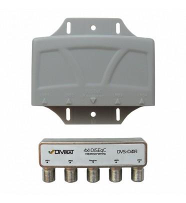 DiSEqC переключатель 4х1, DVS-D41R:  в корпусе DiViSat