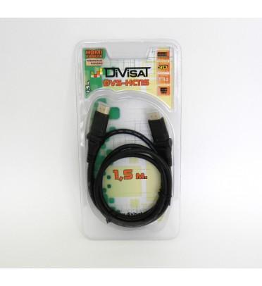 Шнур HDMI, DVS-HC115:  PLUG-PLUG поворотный, 1.4a,1.5м