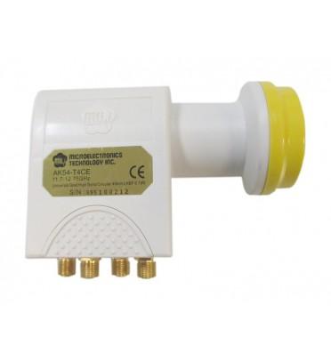 Конвертер  AК54-ХT2E-F  QUAD,  0,2 dB, универсальный LNB