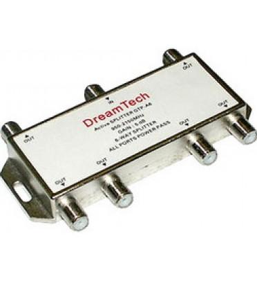 Делитель активный GTP А-6  Активный +5dB, 900-2150 МГц,   шесть (6) отводов Dream Tech