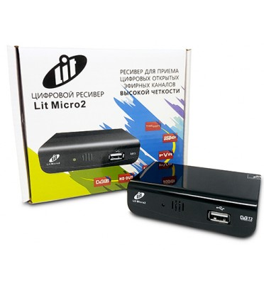 Ресивер эфирный цифровой DVB-T2 Lit Micro 2 Wi Fi IPTV