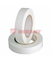 Изолента 15мм х 20м белая  REXANT, 09-2601