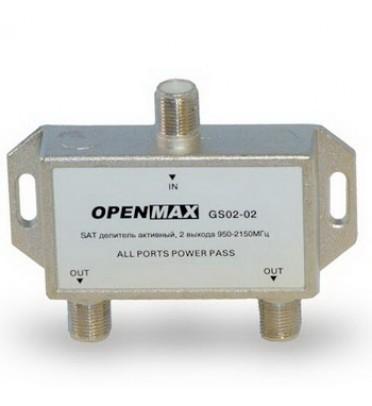 Сплиттер активный GS 02-02 выхода, 950-2150 мГц OPENMAX