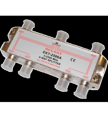 ДЕЛИТЕЛЬ  ТВ х 6 под F разъём 5-2500 МГц
