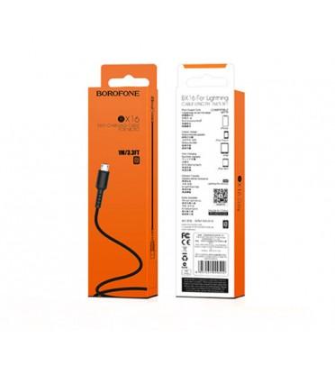 Шнур зарядки BOROFONE BX16 microUSB черный (99499)