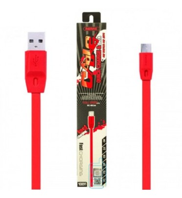 Шнур зарядки Remax RC-001 microUSB Full speed красный