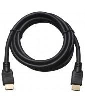 Шнур HDMI штекер - HDMI штекер1,5м,  без ферритов, D6,0мм (пластик-золото)