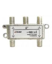 DVS-S104: Делитель сигнала 5-2400 МГц, 4-way, DiViSat