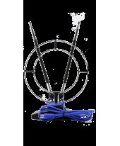 Антеннa комнатная МВ+ДМВ с 2-м ш/п контуром и смесителем APA-026
